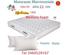 Materasso Memory & Poliuretano Matrimoniale
